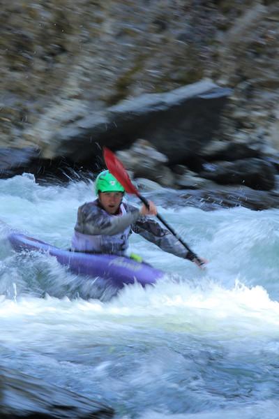 Kayaking through Quechee Gorge
