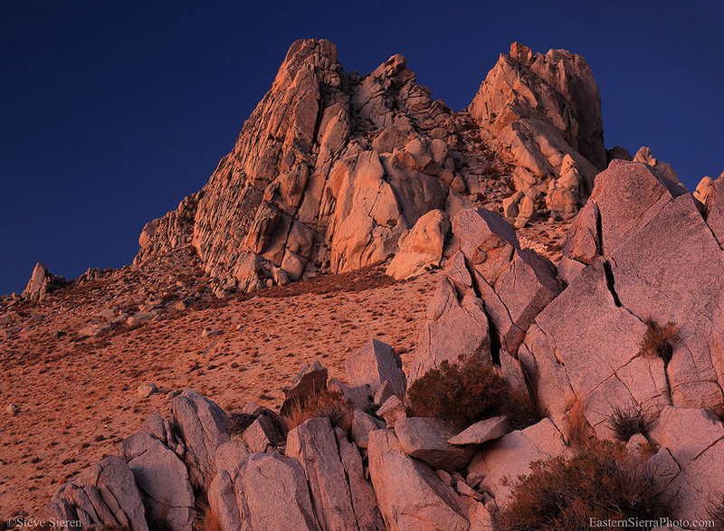 Five Fingers Summit at dawn in the Southern Sierra Nevada, California.