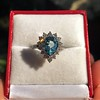 3.30ctw Aquamarine and Diamond Cluster Ring 9