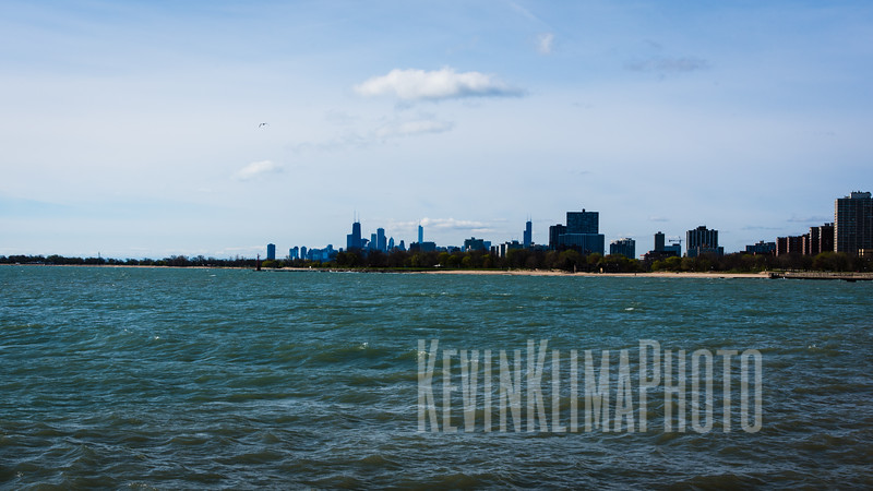Distant Chicago Skyline from the North