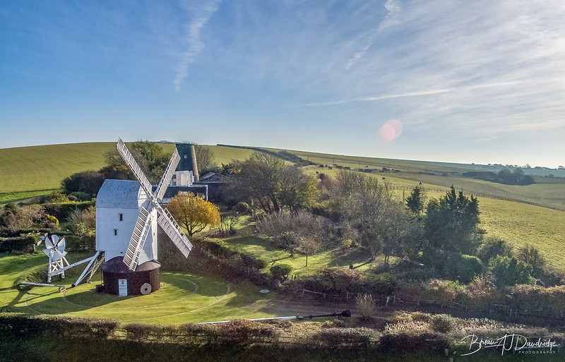 The Clayton Windmills, known locally as Jack and Jill, stand on the South Downs above the village of Clayton, West Sussex, England. They comprise a post mill and a tower mill, and the roundhouse of a former post mill. All three are Grade II* listed buildings