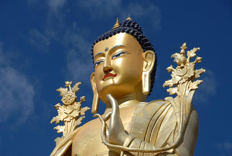 75' Maitreya (Buddha of the future) Buddha statue at Likir Monastery in Ladakh, India.