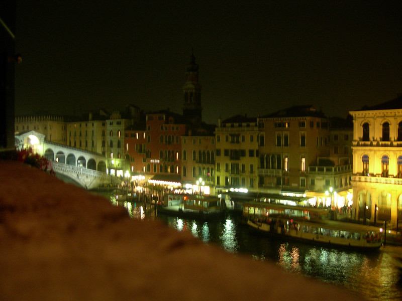 Second night scene from our Venice hotel