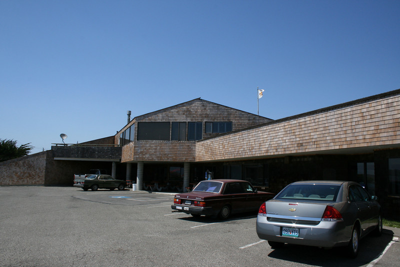 The Post Office and hot dog stand at Bodega Bay   - it has a grass roof - which you'll see next.