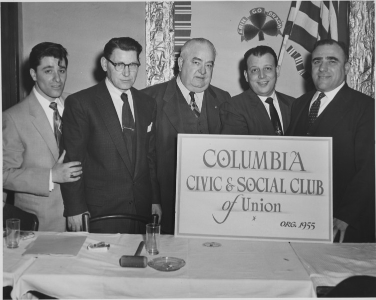 Sal Mauro (left), Mayor F. Edward Biertuempfel and others .