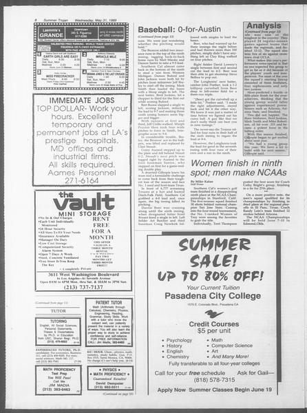 Summer Trojan, Vol. 109, No. 3, May 31, 1989