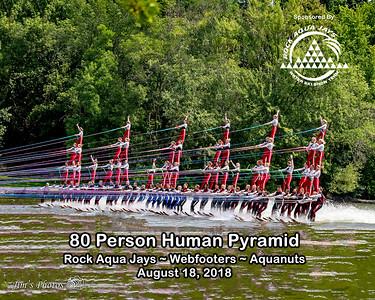 Waterski - RAJ World Record Pyramid - August 18, 2018