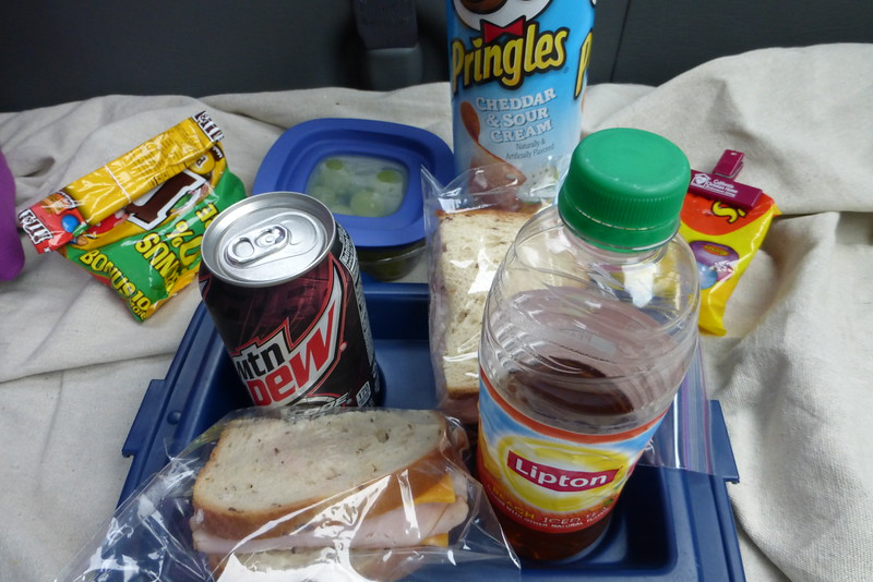 Our picnic lunch in the park
