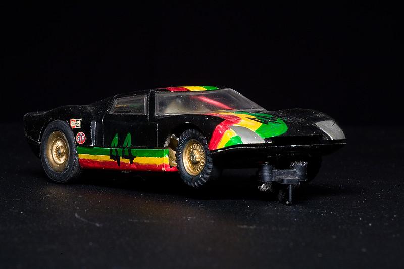 Scratch built slot car.