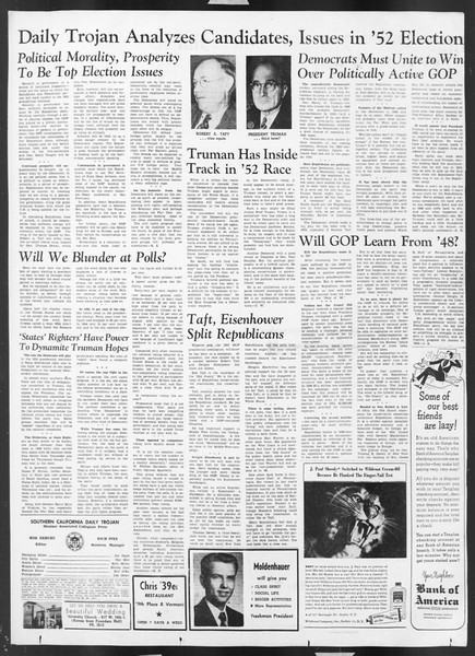 Daily Trojan, Vol. 43, No. 33, November 01, 1951