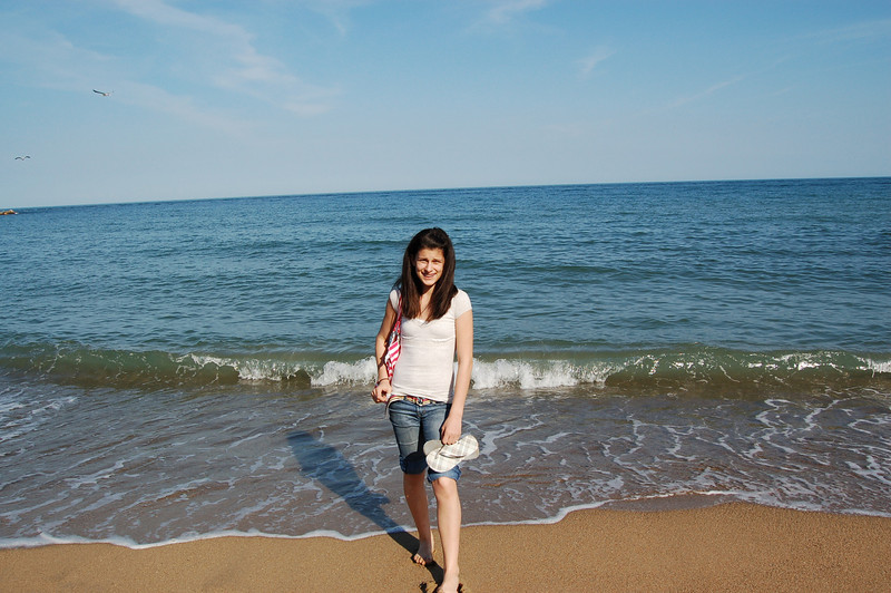Feet in the Med Sea!