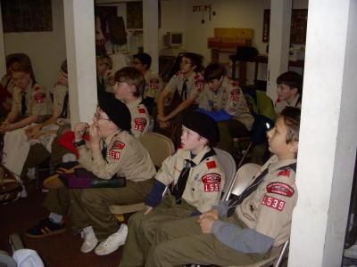 Troop Meeting - Nov 3
