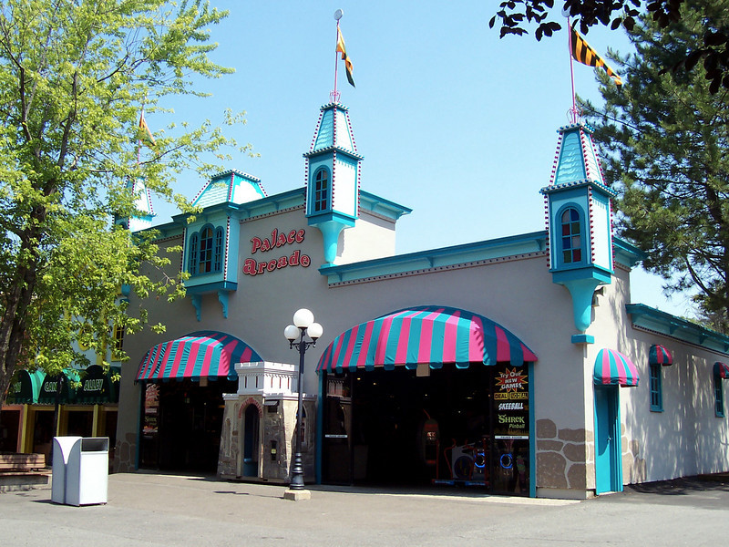 The Palace Arcade had a new paint job and new awnings.