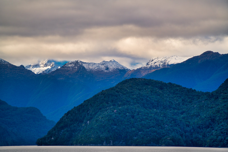 Snow-Covered Peaks, Doubtful Sound
