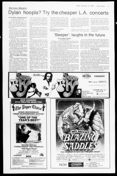 Daily Trojan, Vol. 66, No. 73, February 15, 1974