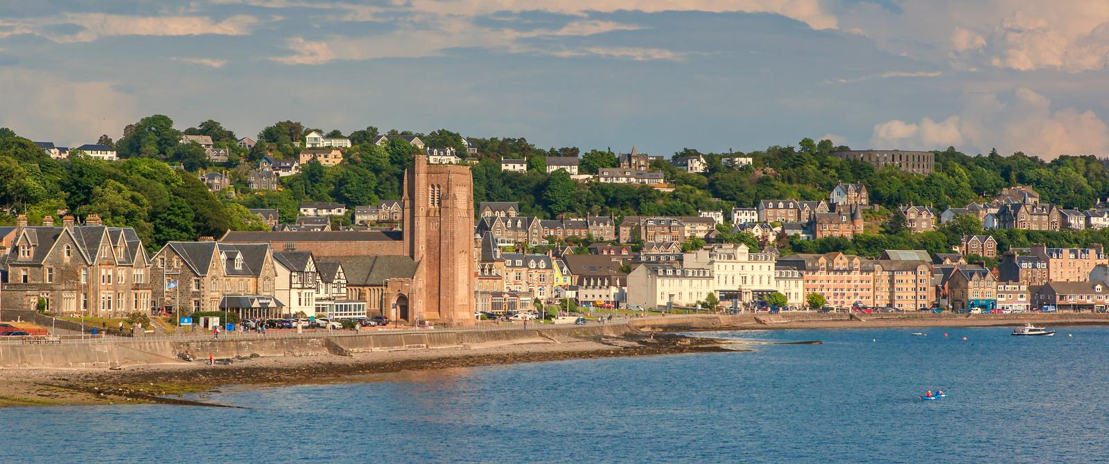蘇格蘭美景,海邊的小鎮