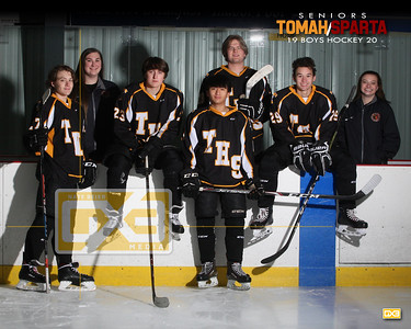 Tomah/Sparta boys hockey seniors BH1920