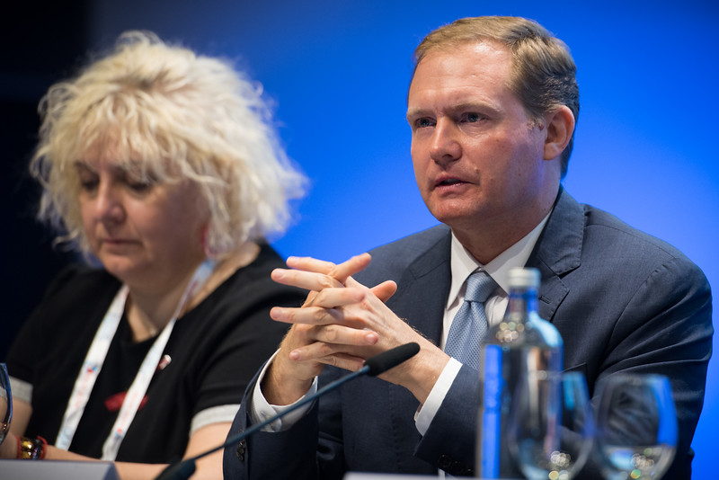 22nd International AIDS Conference (AIDS 2018) Amsterdam, Netherlands   Copyright: Marcus Rose/IAS  Photo shows: TB 2018: Bridging the TB and HIV Communities. Discussion: Towards the UN High-Level Meeting on TB William Steiger, USAID, United States.