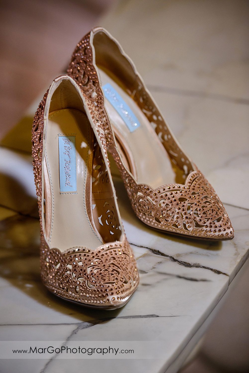 wedding shoes at Whitcomb Hotel in San Francisco