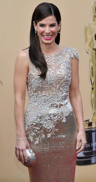 . Sandra Bullock arrives at the 82nd Annual Academy Awards held at the Kodak Theater on Sunday, March 7, 2010 in Hollywood, California. (John McCoy/Los Angeles Daily News)