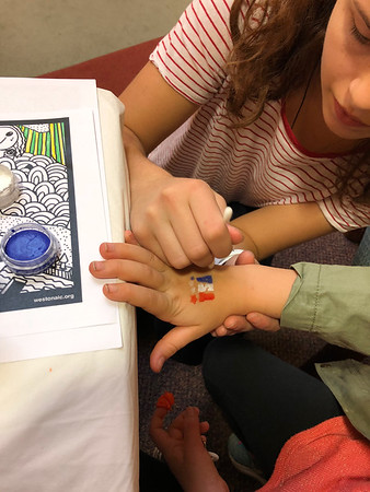 2017-11-04 Face Painting at Library Book Sale