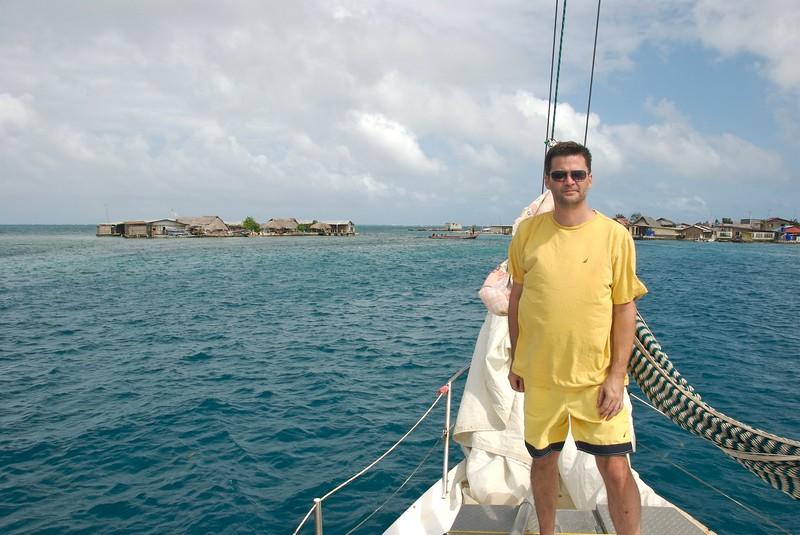 Michael Hodson in the San Blas Islands