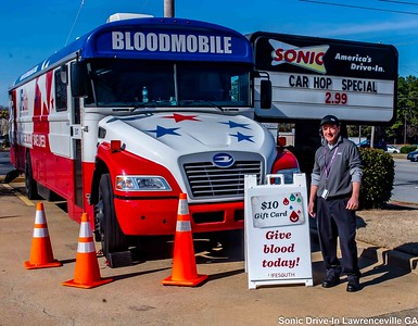 LifeSouth Blood Drive Sonic Lawrenceville GA Feb 22-2020