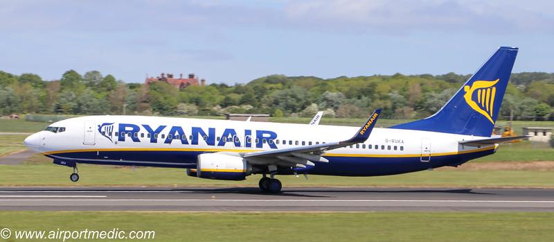 G-RUKA B737 RYANAIR (UK) @ Prestwick Airport (EGPK)