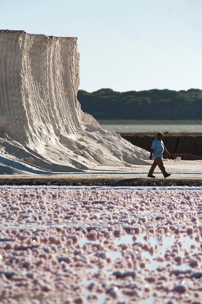 Bonanza saltworks, town of Sanlucar de Barrameda, province of Cadiz, Andalusia, Spain.