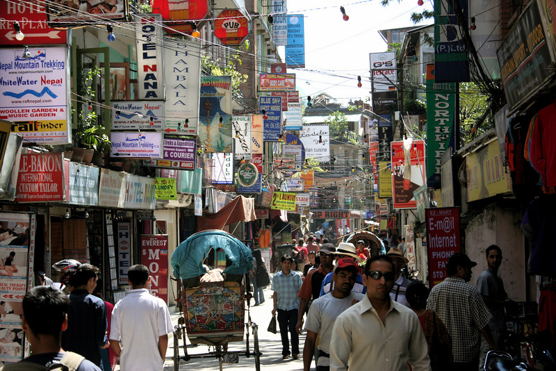 thamel.. tourist area.  kathmandu