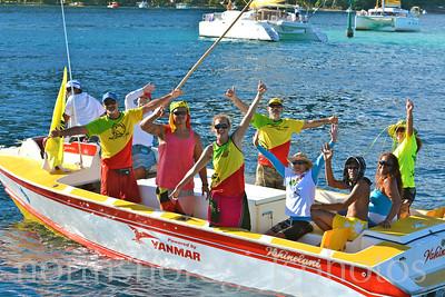 Day 1 Huahine to Raiatea Hawaiki Nui Va'a 2013