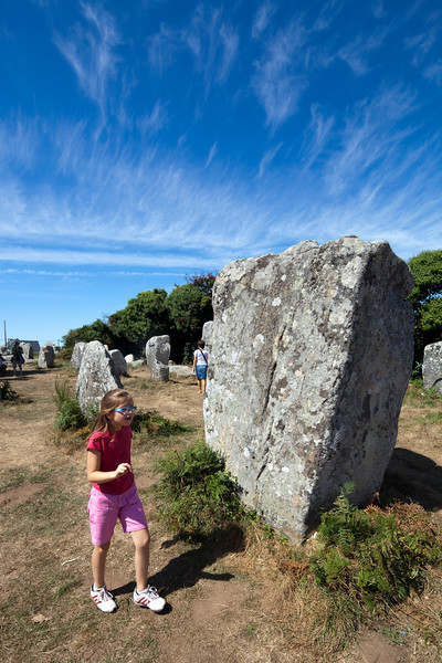 Megaliths of Kerherzo, town of Erdeven, departament of Morbihan, Brittany, France