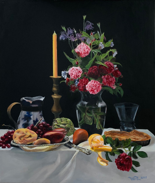 Still Life with Heritage Roses