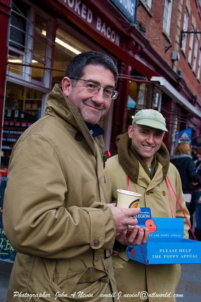 Poppy day appeal 2011 Newark Market Place