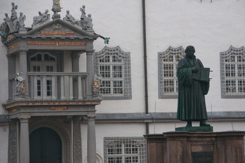 Martin Luther statue in Wittenberg, Germany