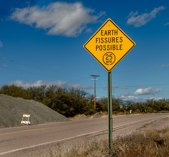 Earth Fissures Sign