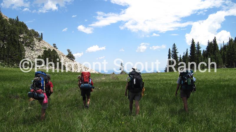 Scouts hiking near Costilla.JPG