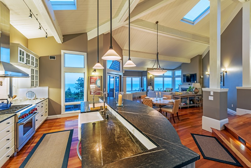 Kitchen with Sunset Views