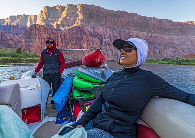 Kayakers Being Shuttled Upriver To Horseshoe Bend