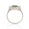 4.38ctw Art Deco Russian Demantoid & Diamond Cluster Ring 4