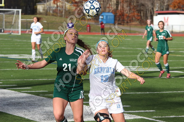 Canton-Medfield Girls Soccer - 11-11-16