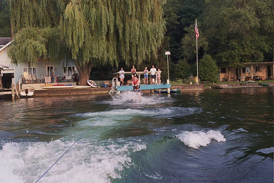 The Kids Waterskiing and Tubing with the Potters!