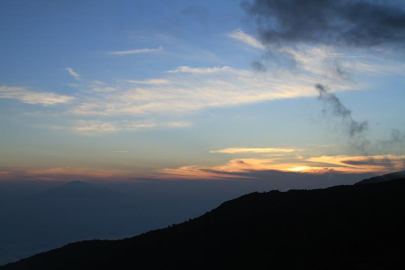 Last glimpse of Mt Meru in the light of vanishing day