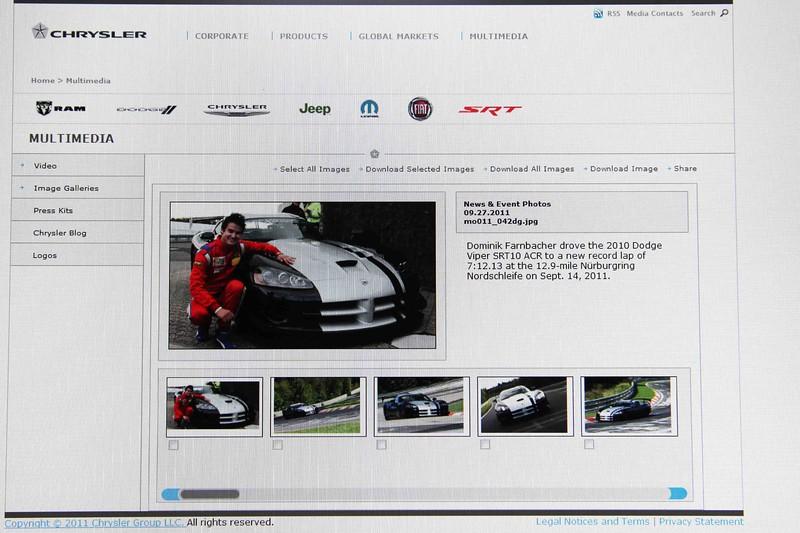 Chrysler media website