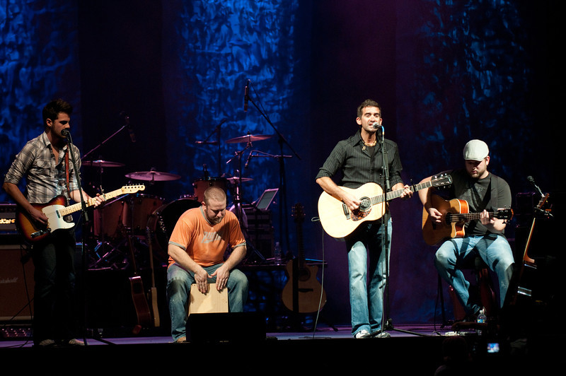 (L to R) Scotty Murray, Josh Robinson, Aaron Shust, and Brian Duffy perform on October 11, 2010 at Harborside Church in Safety Harbor, Florida