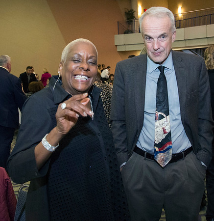 11/21/19 Wesley Bunnell | Staff The Greater New Britain Chamber of Commerce celebrated their 106th year with their annual dinner on Friday night at CCSU. Executive Director of OIC New Britain and board member Paulette Fox.