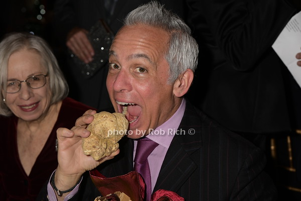 Geoffrey Zakarian attempts to eat at 300 gram truffle from Urbani Truffles at the 40th.Anniversary of LeCirque.