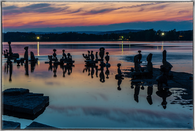 John Ceprano Rock Sculptures Ottawa River at Remic Rapids
