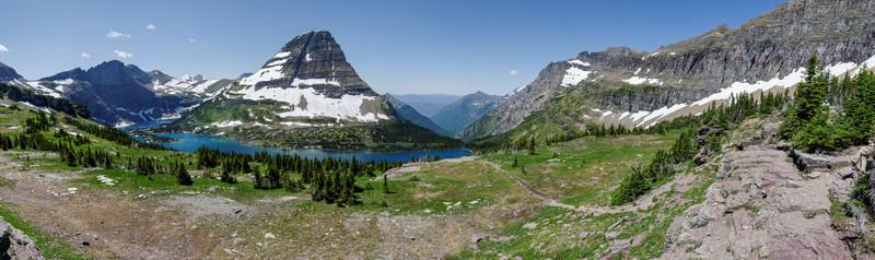 Der Hidden Lake. Er soll einen Abfluss sowohl nach Westen als auch nach Osten haben.