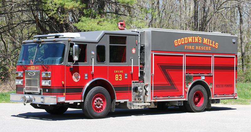Engine 83.  2015 Pierce Saber PUC   1500 / 1000 / 30F